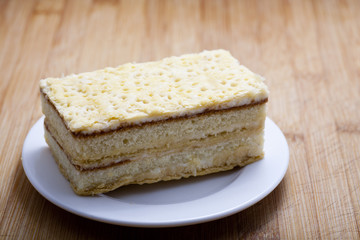 Mille feuille pastry on plate
