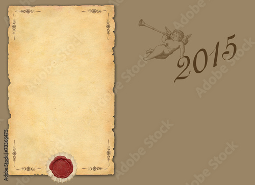 canvas print picture 2015 New Year background