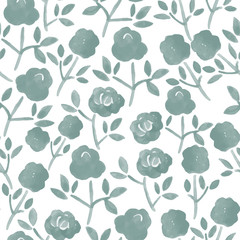 watercolor seamless pattern with a bouquet of roses