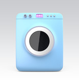 Wash machine with touch screen. Concept for IoT poster