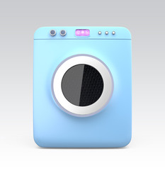 Wash machine with touch screen. Concept for IoT