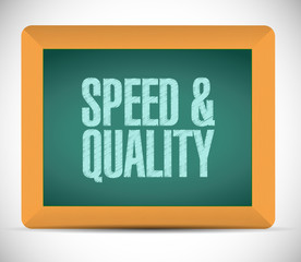 speed and quality sign illustration design