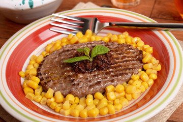 hamburger e condimento - hamburger and seasoning