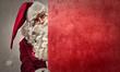 Leinwanddruck Bild - Curious Santa Claus