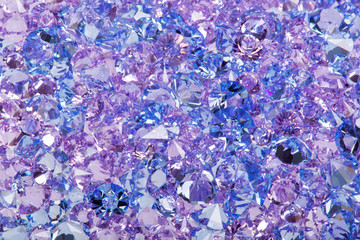 Blue shiny gems closeup photo