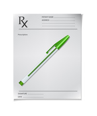 Medical prescription with a pen