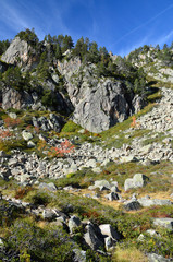 Valley Campan in the autumn Pyrenees