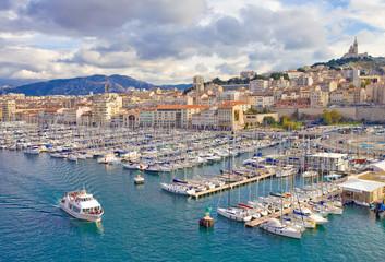Marseille, le vieux port vu du fort saint-Jean