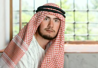 Muslim man in turkish mosque