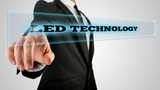 Hand Touching Led Technology Box on Touch Screen