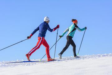 gemeinsames Langlauf-Training