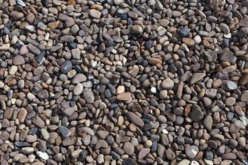 texture of  small sea stones