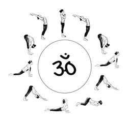 Suria Namaskar - Sun Salutation Complex Of Yoga Asanas