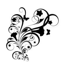 Black Shape Floral Design