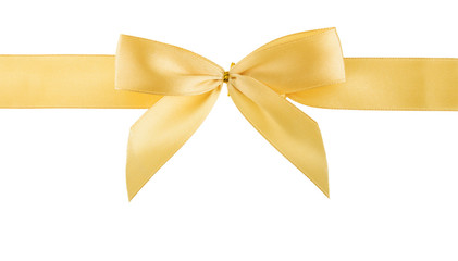 golden ribbon isolated, cutout