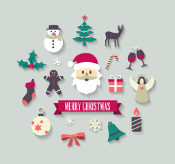 Christmas Icons - Background