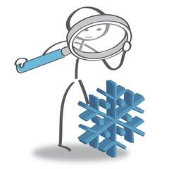Wintercheck mit Lupe