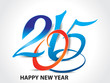 colorfull happy new year 2015 background