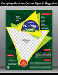 Fashion Center Flyer & Magazine Cover