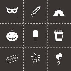 Vector black carnival icon set