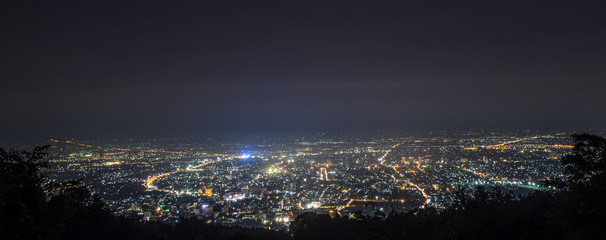 Aerial view of Chiang Mai city, Thailand