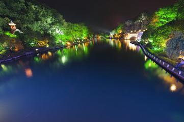 Guilin at night. Guanxi, China.