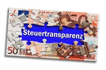 Geldschein - Steuertransparenz