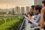 Public show a Horse Race track