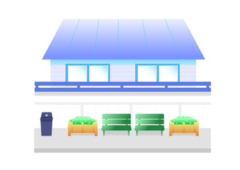 blue house cartoon