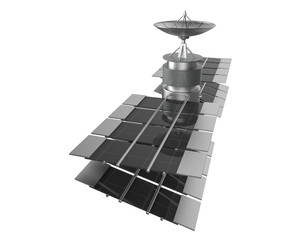 Telecommunications satellite isolate , clipping path