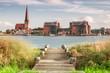 Leinwanddruck Bild - Blick auf Rostock