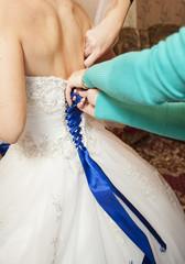 bride lace up corset dress