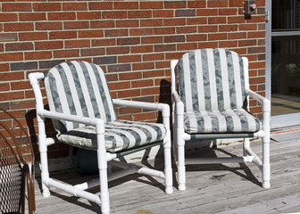Green Striped Lawn Furniture