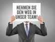 Nehmen Sie den Weg in Unser Team