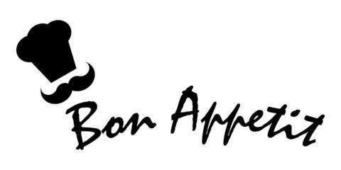 Bon Appetit Chef Toque Hat Restaurant Vector
