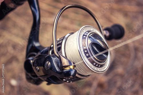 Leinwanddruck Bild Spinning reels