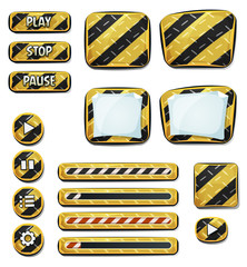 Warning Icons And Elements For Ui Game
