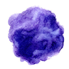 Watercolor vector spot blue and purple