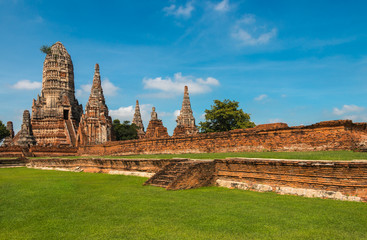Ruined Temple, Wat Chai Wattanaram, at Ayutthaya Historical Park