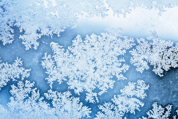 winter ice rime background