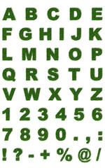Erba Lettere 3d verdi Prato Alfabeto ABC