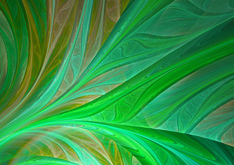Abstract green fractal leaf