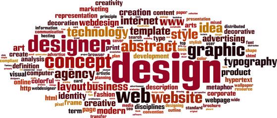Design word cloud concept. Vector illustration