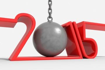 Anno nuovo 2015 sfera con catena