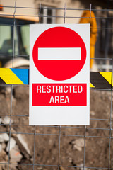 Public works. restricted area.