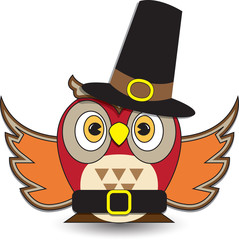Thanksgiving Themed Owl