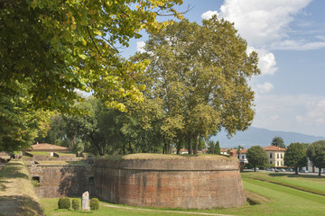 Lucca medieval city walls, Italy