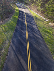 Curving Road From Above