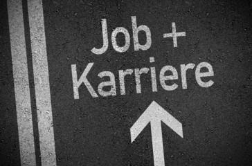 Asphalt mit Job und Karriere