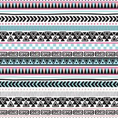 colorful aztec vintage pattern vector illustration